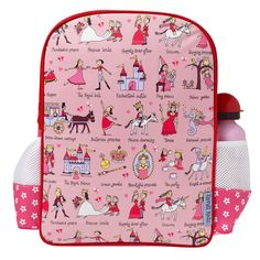 Enchanted castles, unicorns and princes; you'll find them all on this delightful Princess Back Pack designed by Tyrell Katz.