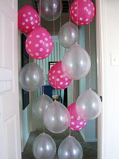 Hang balloons in kids doorway for their birthday #HappyBirthdayBrastop
