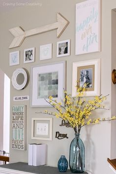Creating personalized art is so relaxing with simple supplies like colored pencils. This family gallery wall features a happily ever after theme. #PhotoCollage
