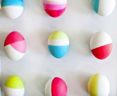 Dyed in Style: 10 Trendy Easter Egg Ideas  (Mary-  the chalk board paint is too much! ;)
