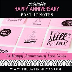 Printable Post-It Love Notes - Perfect, EASY Anniversary Idea!