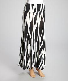 Zebra print skirt available in a medium for $36.