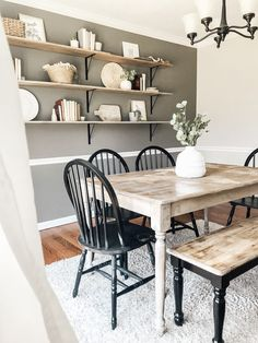 Favorite Neutral Paints & Stains | Full Hearted Home Accent Wall Colors, Room Wall Colors, Dining Room Colors, Dinning Room Ideas, Dinning Room Wall Decor, Kitchen Dinning Room, Accent Wall In Kitchen, Accent Walls In Living Room, Dining Room Paint