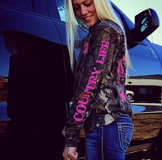 Country Days, trucks and our Long Sleeve Pink Camo Skull T look great! countrylifeoutfitters.com