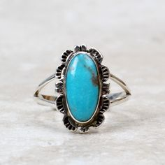Lela Ring | Turquoise | Something Blue | Sterling Silver | Jewelry | Accessories | Fashion | Style | Layering | Hippie | Boho | Southwest | Western | Coco and Duckie