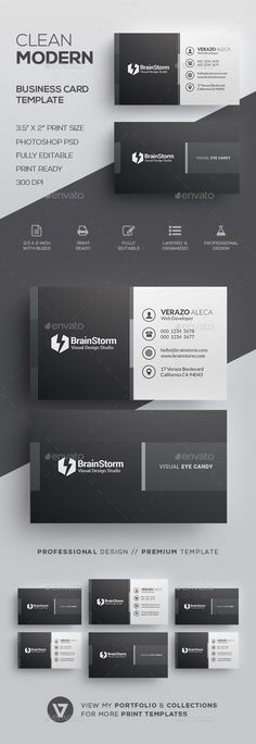 Clean Business Card Template - Corporate #Business #Cards Download here: https://graphicriver.net/item/clean-business-card-template/20072648?ref=alena994