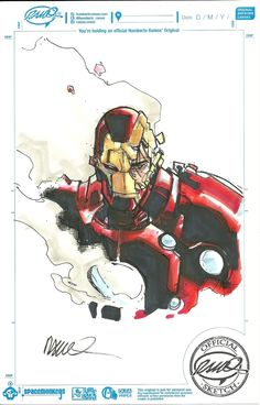 Iron Man by Humberto Ramos *