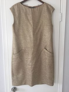 http://www.athenefashion.com/ebay/quick-ends-soon-michael-kors-collection-womens-gold-silk-cotton-blend-italian-dress-size-12/ cool Quick Ends Soon Michael Kors Collection Women's  Gold Silk Cotton Blend Italian Dress, Size 12
