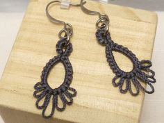Tatted Lace Earrings french wire or clip-on INSPIRATION