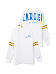 San Diego Chargers Bling Varsity Crew PINK