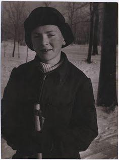 Joseph Brodsky as a boy in winter