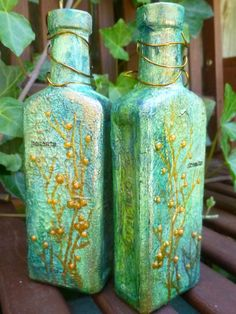 Altered bottle by Alison Bomber - Drink a Magic Potion #techniques