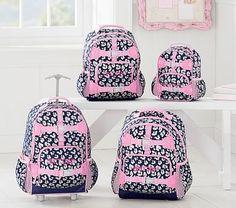 Mackenzie Navy Glitter Cheetah Backpack  pbkids Girl Backpacks f01b60e770a2c