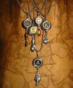 Artifactsusa.com: TypoS Typewriter Jewelry