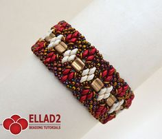 Beading Tutorial for Osseleta Bracelet is very detailed, easy to follow, step by step, with clear beading instructions and with color photos of each step.