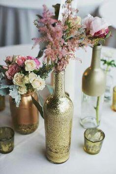 Garrafas de decoração para casamentos