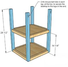 Writing Desk Plans – Furniture Plans and Projects | Woodworking Session