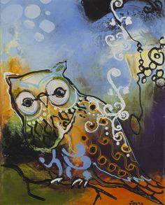 Owl multicolor, Freja - Malerifabrikken