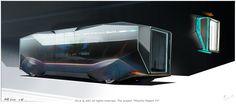 ArtStation - Bus concepts for Minority Report TV project , Timur Mutsaev