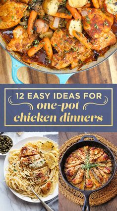 12 Easy Ideas For One-Pot Chicken Dinners