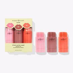 Share Some Sugar Balm Trio Tinted Lip Balm, Lip Tint, Sugar Rush, Lip Hydration, Sugar Lips, How To Line Lips, Dry Lips, Essential Fatty Acids, Pink Lemonade