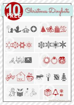 adorable Christmas dingbats & illustrated fonts.  PeRfEcT for crafting, holiday cards, invitations and printables!