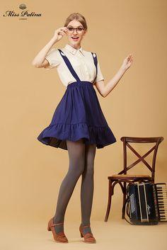 b8a12e5675 Miss Patina - School Memory Skirt Blue
