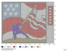US patriotic wall hanging