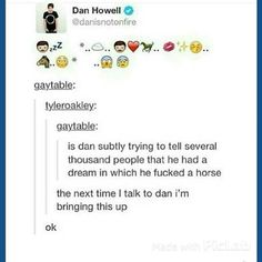 """Oh my God Dan hahaha x) (but is the horse a metaphor for Phil? I mean Philip means """"lover of horses"""" after all...)"""