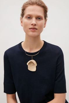 COS image 2 of Warped shape necklace in Gold