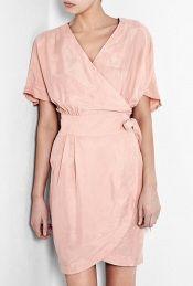 Wrap dress by Ganni.