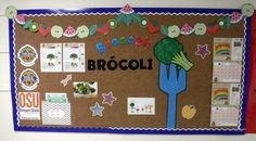 Healthy eating bulletin board, Broccoli. foodhero.org