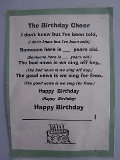 Easy enough....Sometimes singing the traditional Happy Birthday song can get old.. but kids will love to be able to learn a new chant!