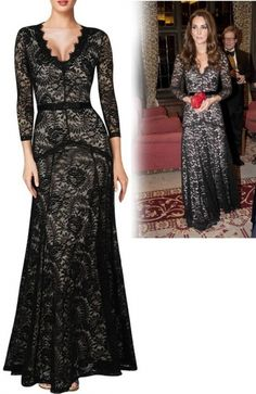 Czarna koronkowa sukienka wieczorowa