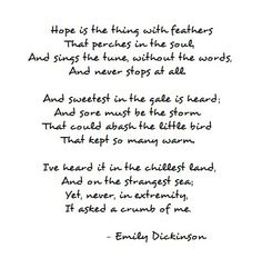 hope is the thing with feathers - Google Search