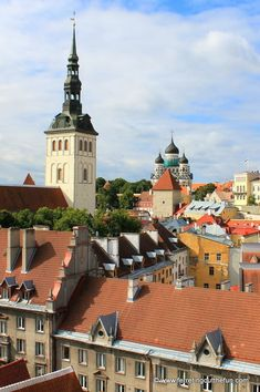 A Weekend in Tallinn, Estonia - Ferreting Out the Fun View of medieval Tallinn, Estonia from the town hall tower Medieval Houses, City Vibe, Place Of Worship, Town Hall, Eastern Europe, Luxury Travel, Nice View, Where To Go, Old Town