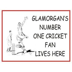 L1745 Large Glamorgan'S Number One Cricket Fan Lives Here Funny Metal Advertising Wall Sign
