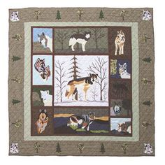 Call Of The Wild Quilt Queen 85 X 95 Inch Patch Quilts Quilt Quilts & Bedspreads Bedding