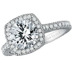 18k Diamond Engagement Ring Mounting - Choose your own diamond!