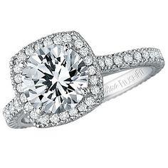 18k Diamond Engagement Ring Mounting - Choose your own diamond!