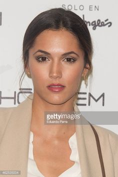 Actress Cristina Alarcon attends Hominem new collection presentation. Crushes, Presentation, Actresses, Collection, Earrings, Female Actresses