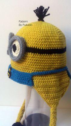 Pattern Kevin the Minion Hat DIY Halloween costume by Pukado Horgolt  Babasapkák 77018c1826