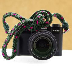 Kumihimo Camera strap, 冠組/ Yurugi Gumi, 12 strand gaucho braid, Type 1 accessory cord