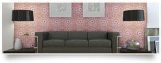 Tempaper - Self Adhesive. Repositionable. Temporary. Wallpaper. (Wall covering is WA111 from our Digital Art Collection)