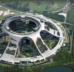 sci fi city / green utopia / fantasy