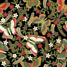butterfly pattern, Japanese