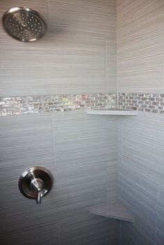 Tile design in master bathroom shower Tile design in master bathroom shower Master Bathroom Shower, Tiny House Bathroom, Bathroom Showers, Bling Bathroom, Bathroom Small, Mosaic Bathroom, Modern Bathroom, Accent Tile Bathroom, Glitter Bathroom