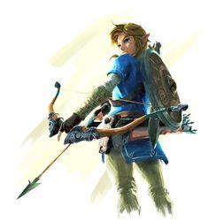 The Legend of Zelda: Breath of the Wild official Link art!!!