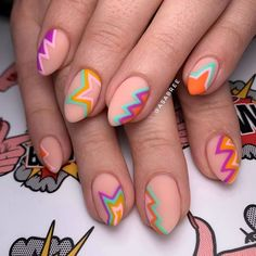 Cute Acrylic Nails, Cute Nails, Pretty Nails, Gel Nails, Nail Design Stiletto, Nail Design Glitter, Funky Nail Art, Pointed Nails, Nail Games