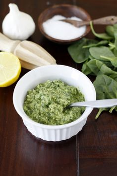 Spinach Pesto {made this}